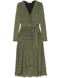Diane von Furstenberg Rilynn Mesh Faux-wrap Dress - Green