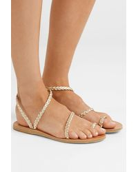 Ancient Greek Sandals - Eleftheria Braided Metallic Leather Sandals - Lyst