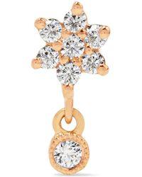 Maria Tash - Flower 18-karat Rose Gold Diamond Earring - Lyst