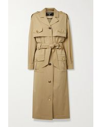 Balmain Belted Woven Trench Coat - Natural