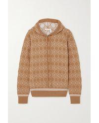 Chloé Jacquard-knit Wool-blend Hoodie - Natural