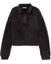 T By Alexander Wang - Oversized Wool-blend Fleece Sweatshirt - Lyst