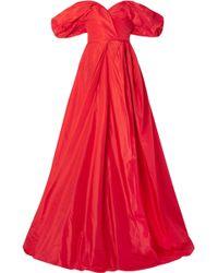 Carolina Herrera - Off-the-shoulder Silk-taffeta Gown - Lyst