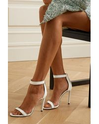 Jimmy Choo Dochas 100 Crystal-embellished Leather Sandals - White