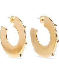 Elizabeth and James - Joni Gold-plated Topaz Hoop Earrings - Lyst