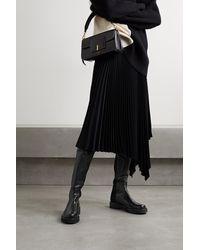 Stuart Weitzman 5050 Lift Leather And Neoprene Over-the-knee Boots - Black