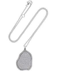 Kimberly Mcdonald - 18-karat White Gold Diamond Necklace - Lyst