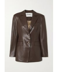Nanushka Hathi Vegan Leather Blazer - Brown