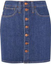 Madewell - Denim Mini Skirt - Lyst