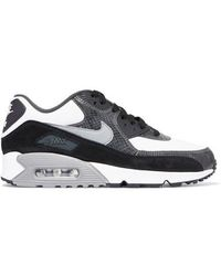 7d6b59deab Nike - Air Max 90 Qs Snake-effect Leather And Suede Trainers - Lyst