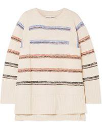 Apiece Apart Baja Striped Cotton Sweater - Natural