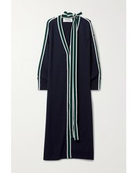 Monse Striped Merino Wool Cardigan - Blue