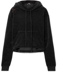 The Upside - Hoya Cropped Cotton-blend Velour Hoodie - Lyst