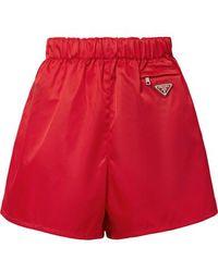 Prada Nylon Shorts - Red