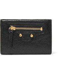 Balenciaga Classic City Mini Textured-leather Wallet - Black