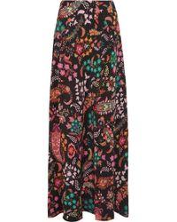 Etro - Printed Silk Crepe De Chine Maxi Skirt - Lyst