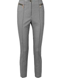 Opening Ceremony Gingham Cady Skinny Pants - Gray