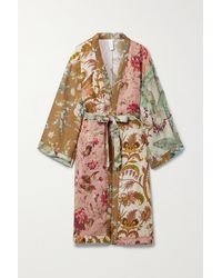 Zimmermann Cassia Belted Printed Linen Robe - Multicolor