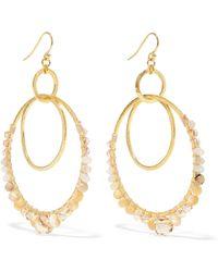 Chan Luu - Gold-plated Multi-stone Earrings - Lyst