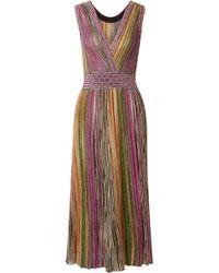 Missoni - Metallic Knitted Midi Dress - Lyst