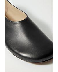 Proenza Schouler Rondo Leather Ballet Flats - Black