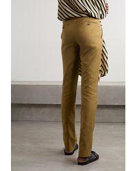 Petar Petrov Gema Cotton-twill Slim-leg Trousers - Green