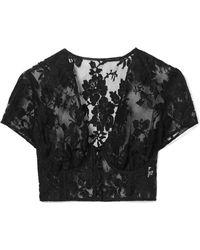 Rosamosario - La Bella Siciliana Cotton-blend Lace Underwired Bra Top - Lyst