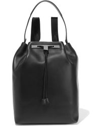 The Row Leather Backpack - Black