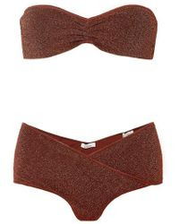 Oséree - Lumière Stretch-lurex Bandeau Bikini - Lyst