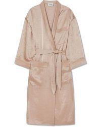 Nanushka - Kimono En Satin Martelé - Lyst