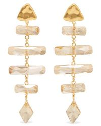 Chan Luu - Gold-plated Swarovski Crystal Earrings - Lyst