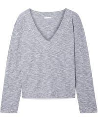Skin Fanya Pima Cotton-blend Jersey Pajama Top - Gray