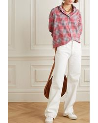 Étoile Isabel Marant Ilaria Oversized Ruffled Checked Cotton-flannel Shirt - Red