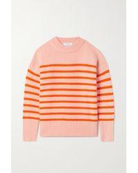 La Ligne Marin Striped Wool And Cashmere-blend Jumper - Orange