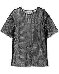 Helmut Lang - Courtney Fishnet T-shirt - Lyst