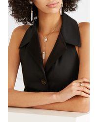 Harris Zhu 14-karat Gold Multi-stone Necklace - Metallic