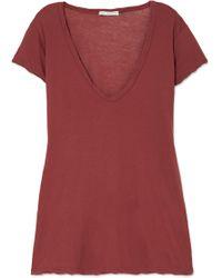 James Perse - Slub Cotton-jersey T-shirt - Lyst