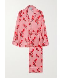 BERNADETTE Floral-print Silk-blend Satin Pyjama Set - Pink