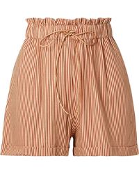 Miguelina - Sienna Striped Woven Shorts - Lyst