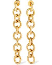 Laura Lombardi - Fede Gold-tone Earrings Gold One Size - Lyst