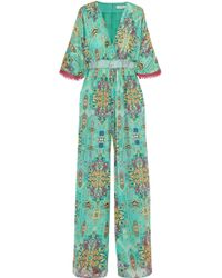 Matthew Williamson - Inca Jewel Silk-chiffon Jumpsuit - Lyst