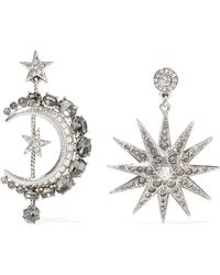Oscar de la Renta - Mismatched Moon & Star Drop Earrings - Lyst