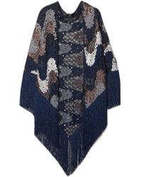 Missoni - Fringed Metallic Crochet-knit Wrap - Lyst