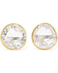 Pippa Small - 18-karat Gold Crystal Earrings - Lyst