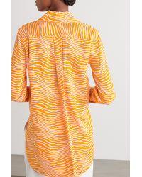 By Malene Birger Feeria Printed Crepe Shirt - Orange