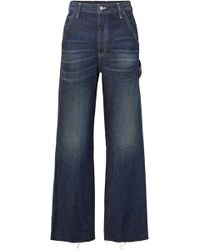 MM6 by Maison Martin Margiela - Cropped High-rise Wide-leg Jeans - Lyst