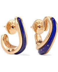 Fernando Jorge - Stream 18-karat Rose Gold Lapis Lazuli Earrings Rose Gold One Size - Lyst