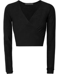Live The Process   Cotton And Cashmere-blend Wrap-effect Top   Lyst