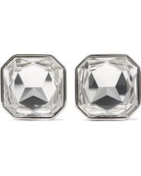 Saint Laurent - Crystal Arrow Clip On Earrings - Lyst