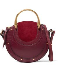 Chloé - Pixie Textured-leather And Suede Shoulder Bag - Lyst